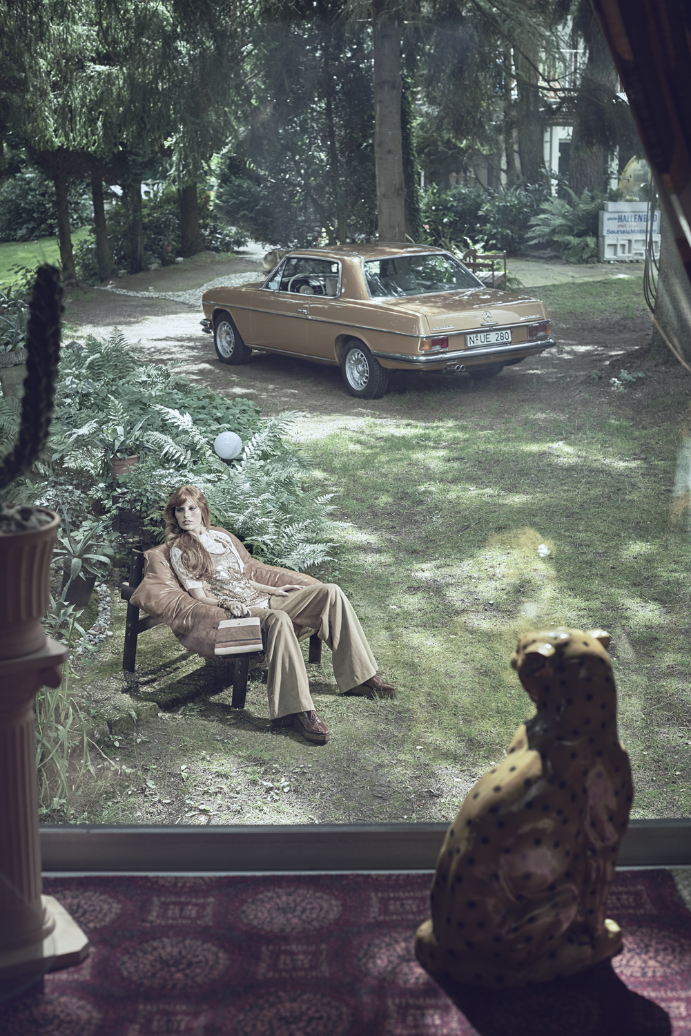 1970 s inspired editorial for Mercedes Benz Classic Magazine