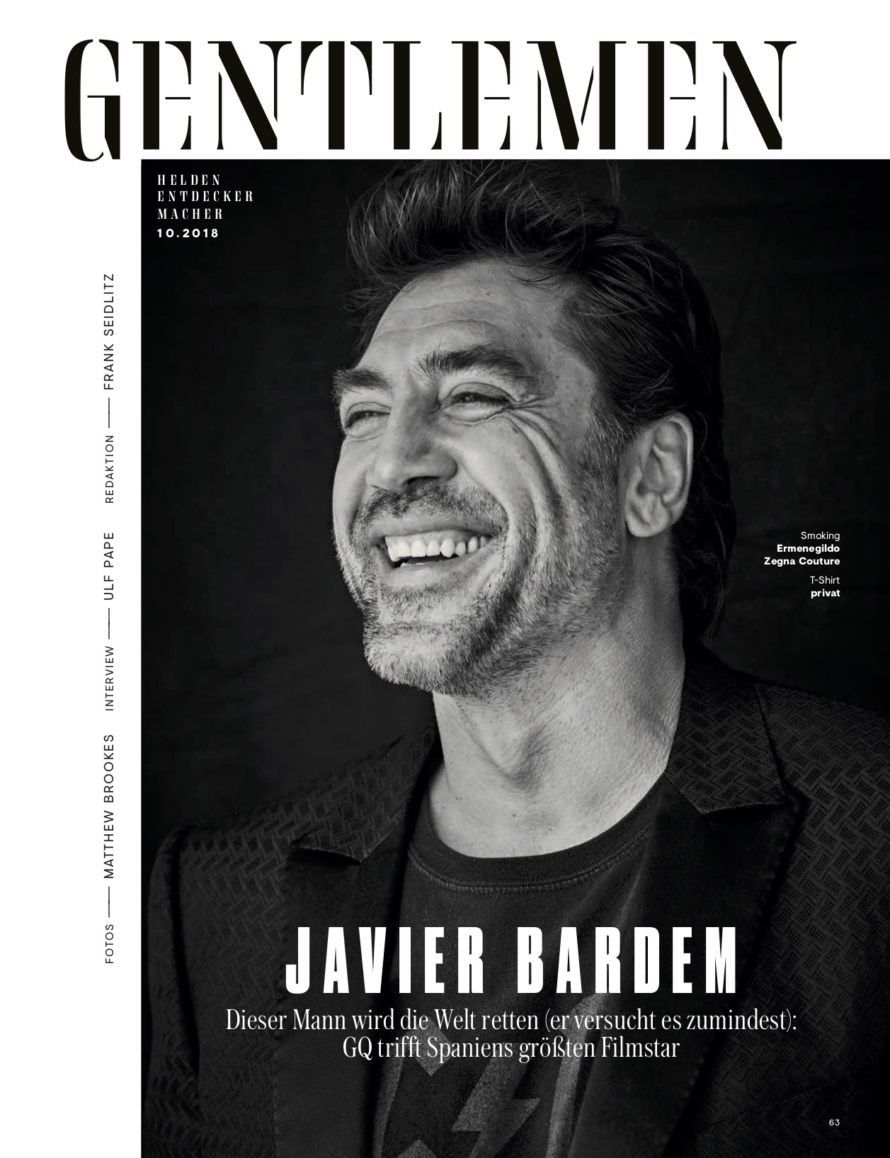 GQ with Javier Bardem 2 by Claudia ENGLMANN