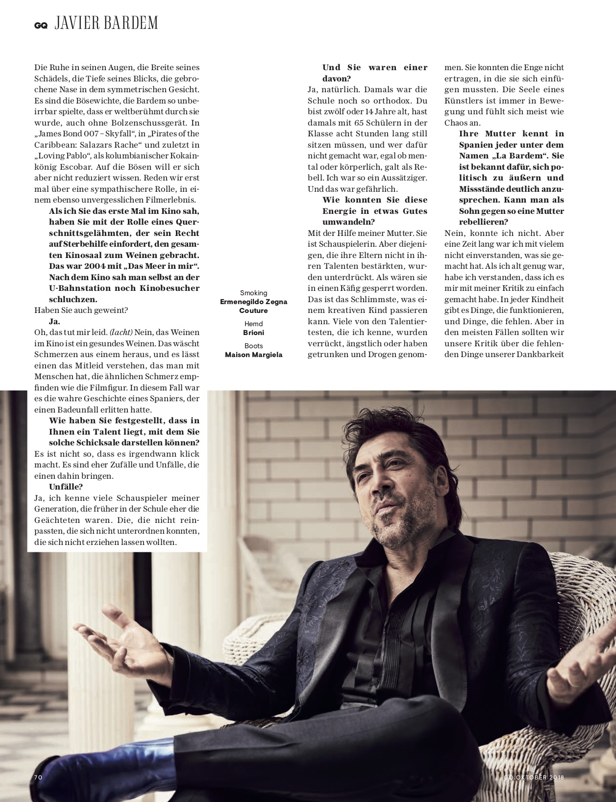 GQ with Javier Bardem 6 by Claudia ENGLMANN