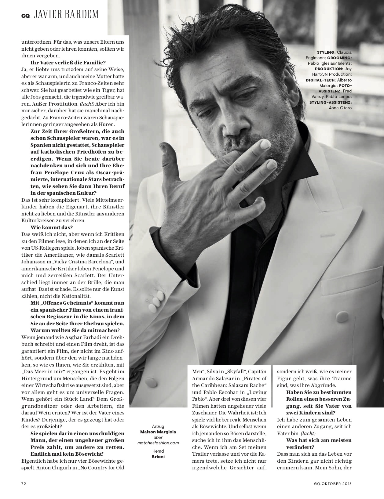 GQ with Javier Bardem 7 by Claudia ENGLMANN